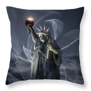 Light Of Liberty Throw Pillow