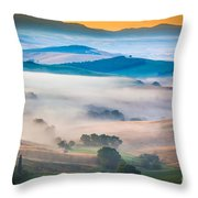 Val D'orcia Enchantment Throw Pillow by Inge Johnsson