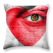 Valenteye Throw Pillow