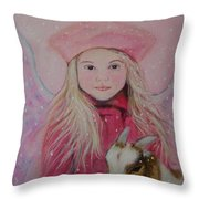 Valentina Little Angel Of Perseverance And Prosperity Throw Pillow by The Art With A Heart By Charlotte Phillips