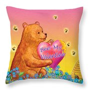 Valentine Baby Bear Throw Pillow