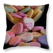 Valentine Candy 5 Throw Pillow