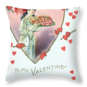 Valentine Card Throw Pillow