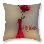 Valentine Careful I Just Might Poke You Throw Pillow