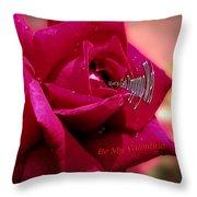 Valentine Dripping Wet Throw Pillow