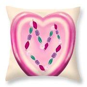 Valentine Gem Throw Pillow