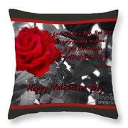 Valentine Roses Throw Pillow