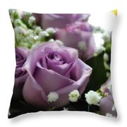 Valentine Roses Throw Pillow