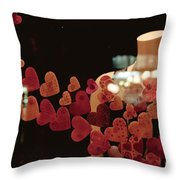Valentine Window Display Throw Pillow