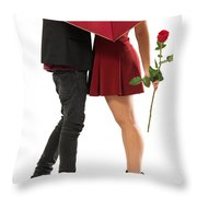 Valentines Couple Throw Pillow by Carlos Caetano