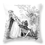 Valentines Day, 1855 Throw Pillow