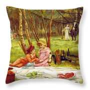 Valentines Day, 1883 Throw Pillow