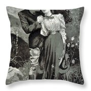 Valentines Day, 1898 Throw Pillow