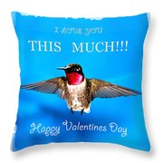 Valentines Day I Love You This Much Throw Pillow