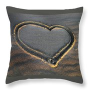 Valentine's Day - Sand Heart Throw Pillow