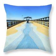 Valero Beach Fishing Pier Throw Pillow