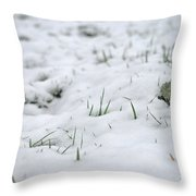 Valiantly Pushing Through Throw Pillow