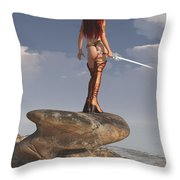 Valkyrie On The Shore Throw Pillow