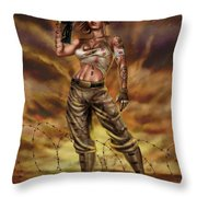 Valkyrie One Throw Pillow