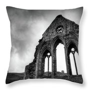 Valle Crucis Abbey Throw Pillow