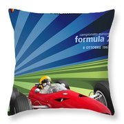 Vallelunga Gran Premio Di Roma 1967 Throw Pillow