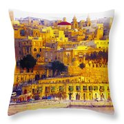 Valletta Capital Of Malta Throw Pillow