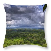 Valley At Chocolate Hills Throw Pillow
