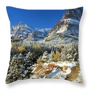 Valley Below Grinnell Throw Pillow