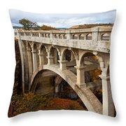 Valley Bridge II Throw Pillow