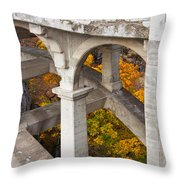Valley Bridge 3 Throw Pillow