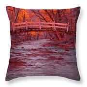 Valley Creek Bridge In Autumn Throw Pillow
