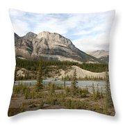 Valley Crossing - Yoho National Park, British Columbia Throw Pillow