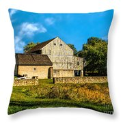 Valley Forge Barn Throw Pillow
