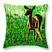 Valley Forge Deer Throw Pillow