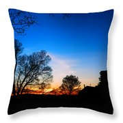 Valley Forge Evening  Throw Pillow