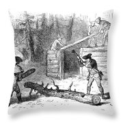 Valley Forge: Huts, 1777 Throw Pillow