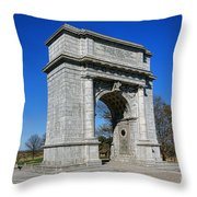 Valley Forge National Memorial Arch Throw Pillow