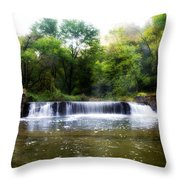 Valley Forge Pa - Valley Creek Waterfall  Throw Pillow
