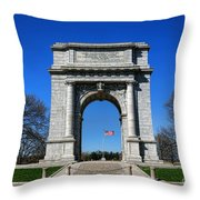 Valley Forge Park Memorial Arch Throw Pillow