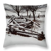 Valley Forge Snow Throw Pillow