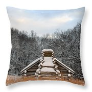 Valley Forge Winter 1 Throw Pillow