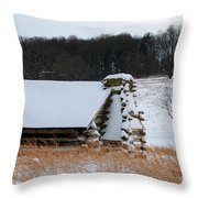 Valley Forge Winter 10 Throw Pillow