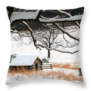 Valley Forge Winter 14 Throw Pillow