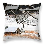 Valley Forge Winter 4 Throw Pillow