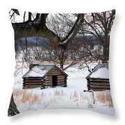 Valley Forge Winter 6 Throw Pillow