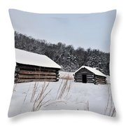 Valley Forge Winter 7 Throw Pillow
