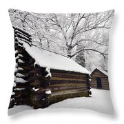 Valley Forge Winter 9887 Throw Pillow