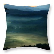 Valley In The Smokies Throw Pillow