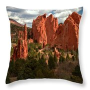 Valley In The Sun Throw Pillow