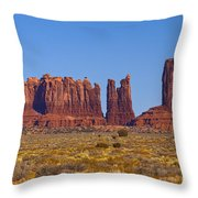 Valley Monuments  Throw Pillow